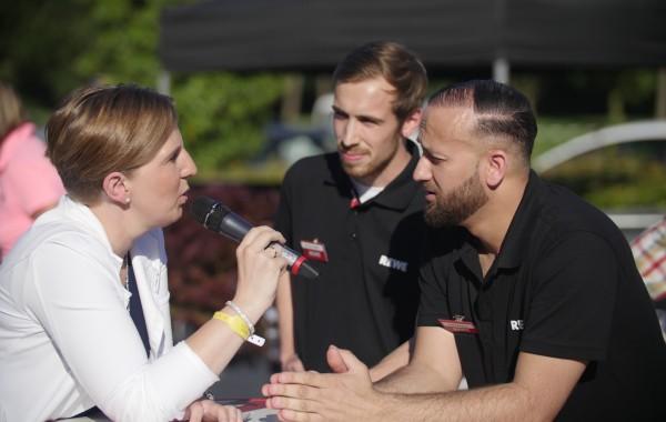 Team REWE Narzinsky im Talk