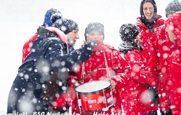 Fanclubs im Schnee